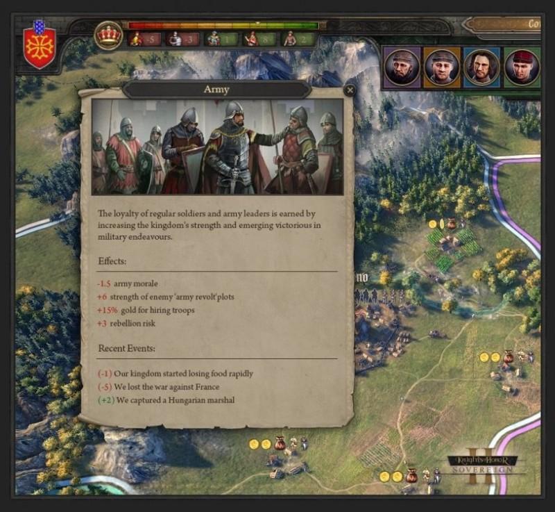 Knights of Honor II: Sovereign - о внутренней политике и новых возможностях дипломатии