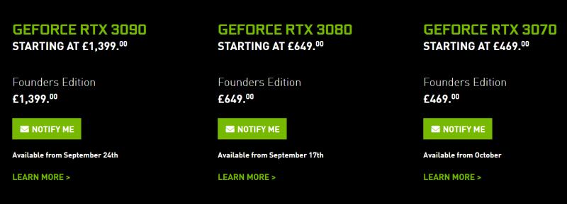 Отчет: NVIDIA GeForce RTX 30 GPUS будет в дефиците до 2021 года
