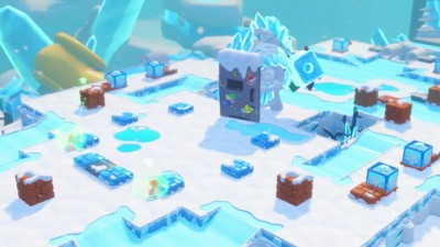 Mario and Rabbids - Icicle Golem Битва с боссом