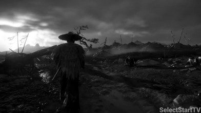 Фанат сделал Ghost of Tsushima черно-белой; игра стала похожей на фильм