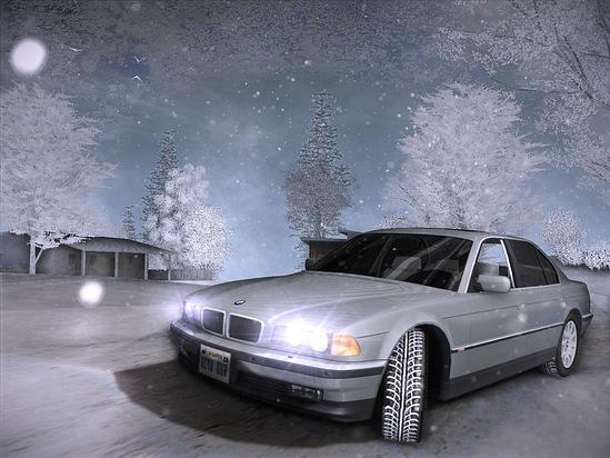 Машины в снегу самп