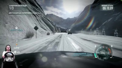 Хардкор в горах на Nissan 370Z Need for Speed: The Run на руле Fanatec Porsche GT2