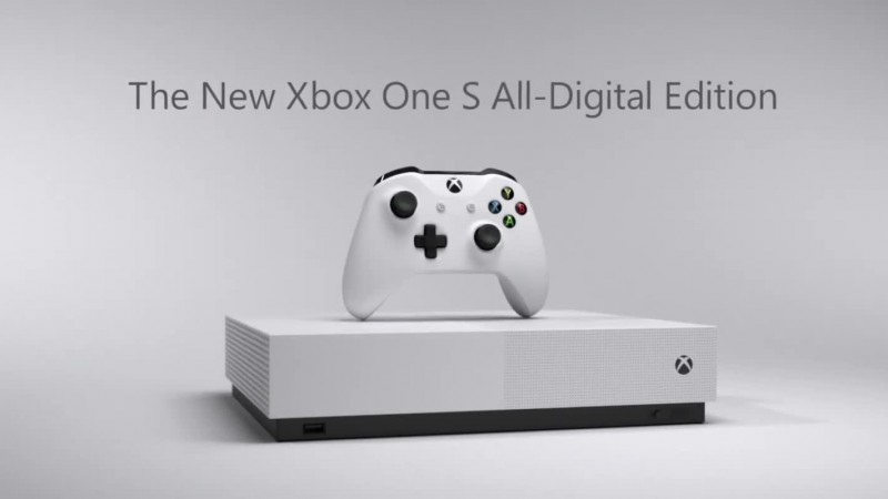 Microsoft официально анонсировала Xbox One S All-Digital Edition