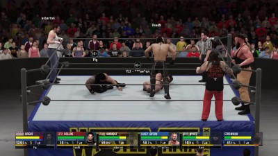 "WWE 2K16 ""Online - The Wyatt Family's (Bray Wyatt,Randy Orton,Strowman) VS Shield (Seth Rollins, Dean Ambrose, Roman Reigns)"""