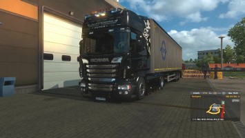 "ETS2 ""Бортовой компьютер для Scania 6 SeriesOld & (RJL) New Gauges R21/R22 v2"""