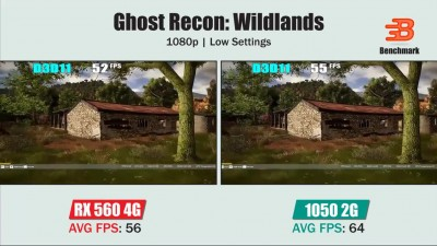 Сравнение RX 560 4G vs GTX 1050 2G | Ghost Recon Wildlands