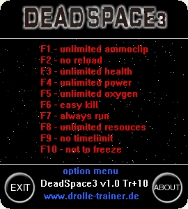 Dead Space 3: Trainer (+10) [1.0] {dR.oLLe}