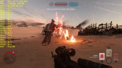 Ryzen 7 1700 - RX 480 4GB - тест Star Wars Battlefront