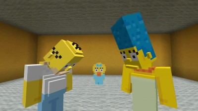"Minecraft ""Трейлер The Simpsons Skin Pack (Xbox One-Xbox 360)"""
