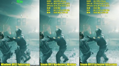 Quantum Break Steam Сравнение версий DX11 Vs Windows DX12