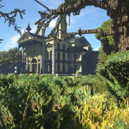 Поклонник Minecraft строит самый проработанный особняк из маленьких блоков