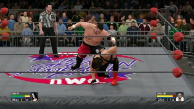 "WWE 2K16 ""Wrestling Today (2016) - The Icon Sting VS Samoa Joe"""