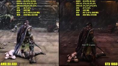 Middle Earth Shadow Of Mordor GTX 1060 Vs AMD RX 480 Частота кадров Сравнение