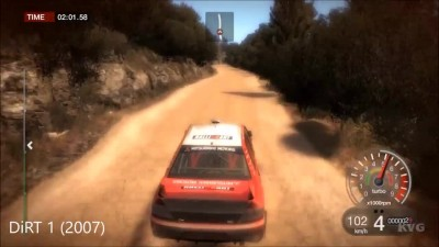 DiRT vs DiRT 2 vs DiRT 3 vs DiRT Showdown vs DiRT Rally vs DiRT 4 - Геймплей Сравнение (HD)