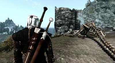 Skyrim — Броня и Мечи Геральда из Witcher 2