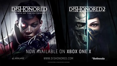 Dishonored 2 и Dishonored: Death of the Outsider - Официальный трейлер к выходу на Xbox One X