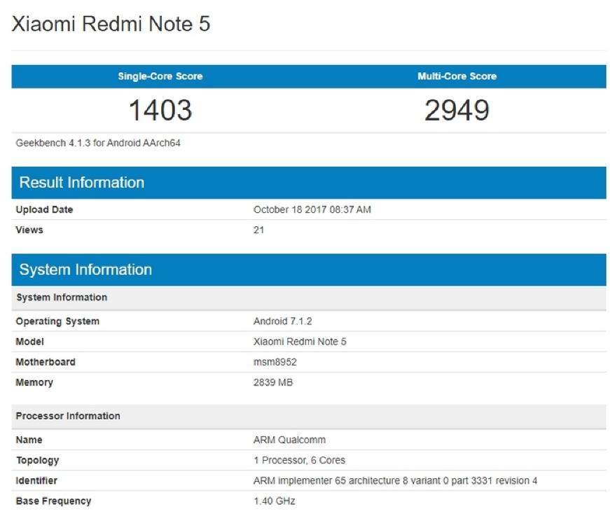 Xiaomi Redmi 5A представлен официально: железный корпус, PDAF, 4G LTE за $90
