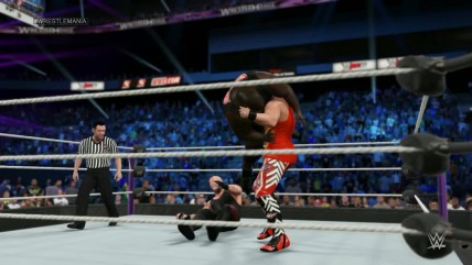 WWE (Universe) WrestleMania 2016 (Dis is Awesome) - Undertaker vs Mark Henry vs Amazing Tiger Sam (WWE World Heavyweight Championship)