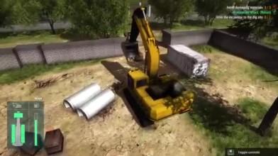 "Construction Machines Simulator 2016 ""Стрим обзор"""