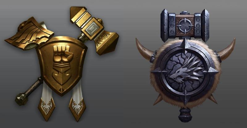 Серебряная и золотая эмблемы (не окончательный вариант)