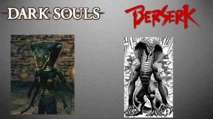 Отсылки к манге Берсерк в серии Souls