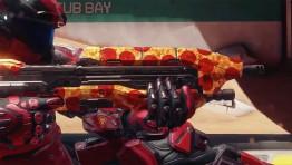 В Halo 5: Guardians доступен бесплатный скин оружия, который выполнен в виде пиццы
