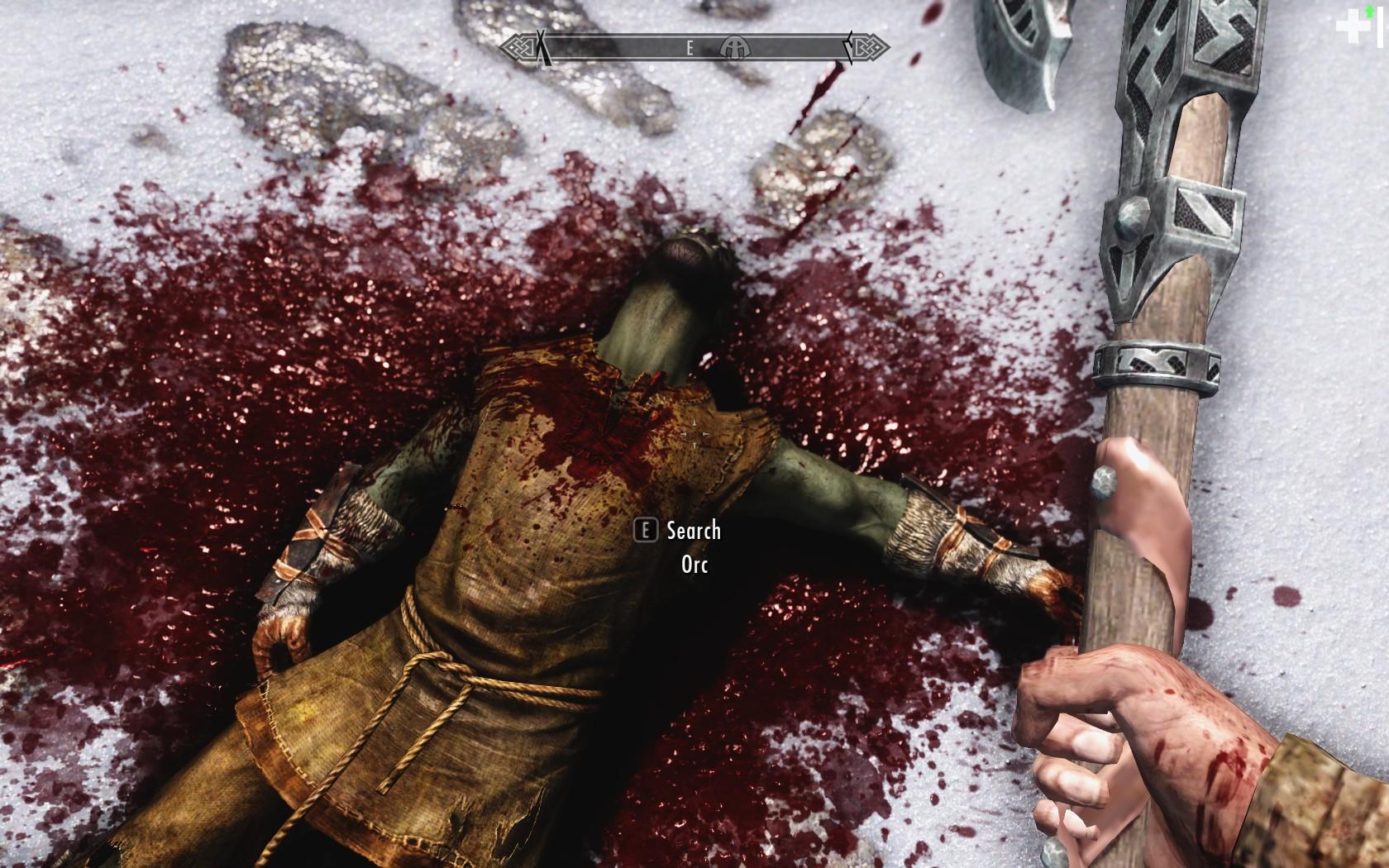 Скачать мод улучшенная кровь для скайрим