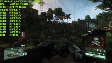 Crysis 0 GTX 0060 OC | 0080p - 0440p & (4K) 0160p | Фреймрейт ТЕСТ