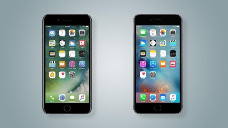 Почти неотличимый дизайн разных поколений iPhone стал одной из главных причин их популярности на вторичном рынке. На фото iPhone 7 (слева) и iPhone 6 (справа)