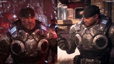 Раннее сравнение моделей персонажей - Gears 5 vs Gears of War 4