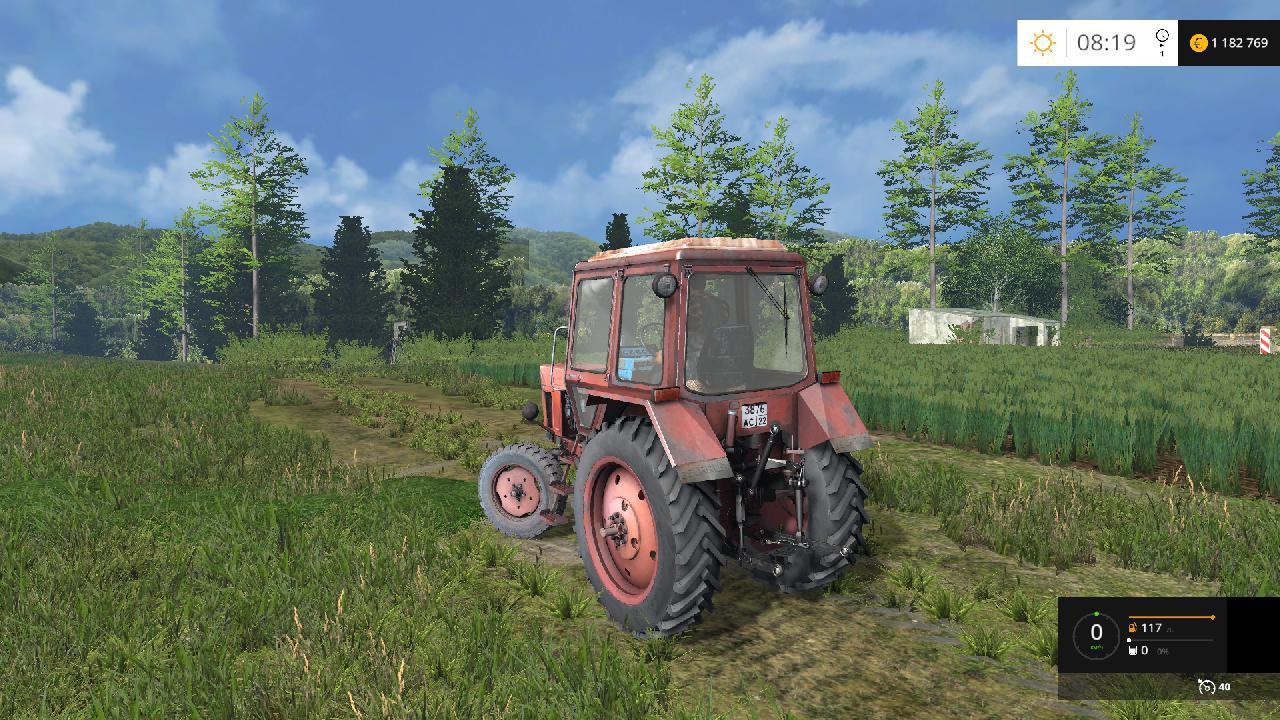 Скачать Мод FS17 Трактор МТЗ 80 Красный v 1.3 для Фермер.