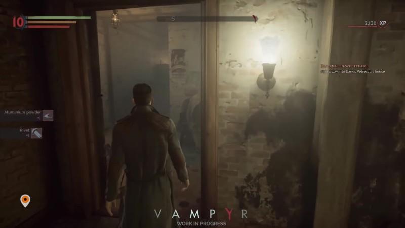 Новый геймплей игры Vampyr