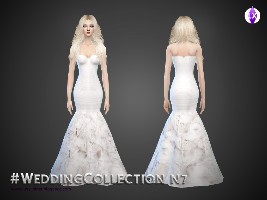 The sims 4 свадебное платье