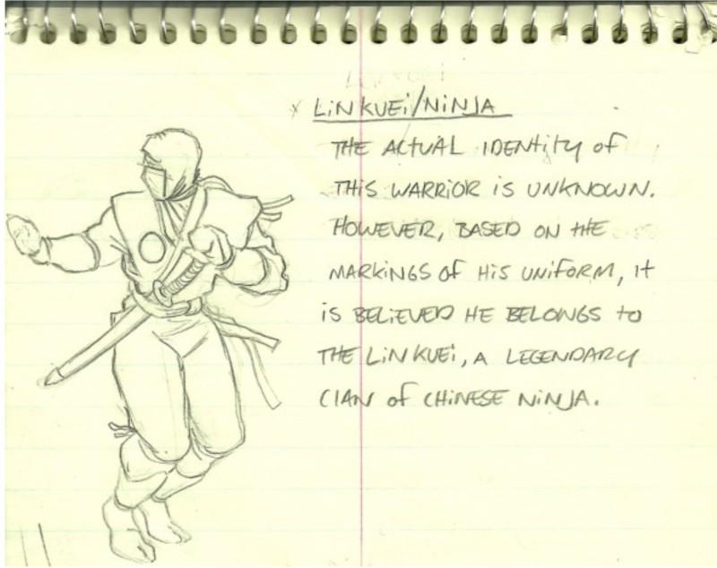 Создатель Mortal Kombat опубликовал самый первый скетч Саб-Зиро
