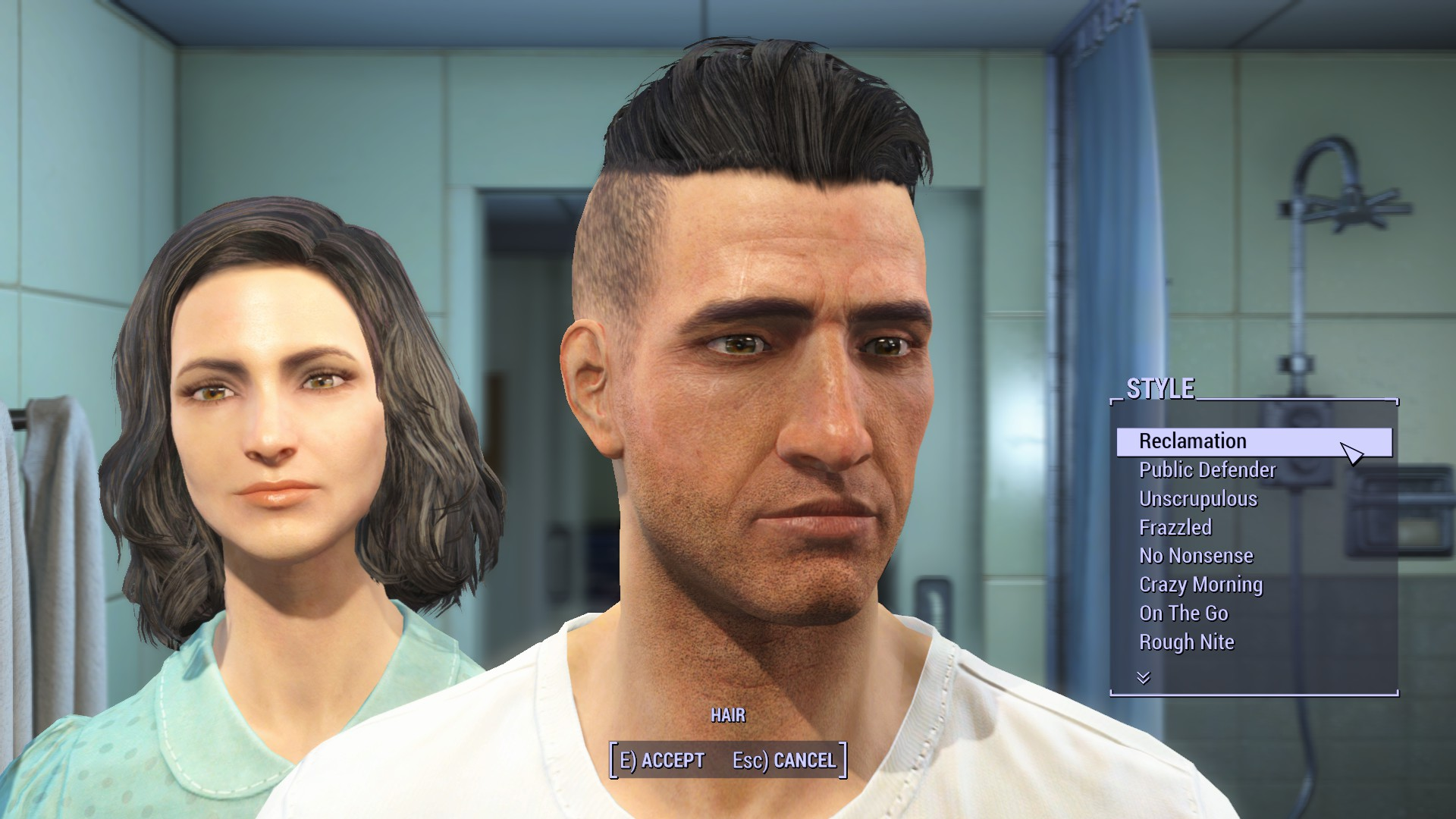 Fallout 4 мужские причёски