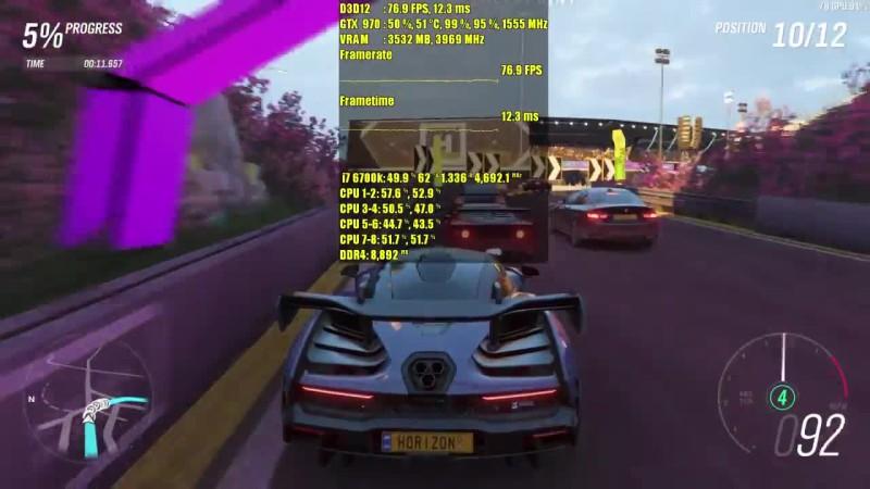 Forza Horizon 4 Demo GTX 970 - GTX 1060 - GTX 1070 - 1080p