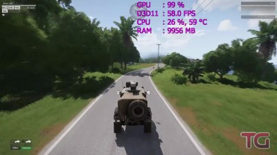 Ryzen 7 1700 in Arma 3 Apex (GTX 1060)