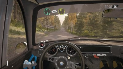 "DiRT Rally ""Renault Alpine 110 Вид из салона Финляндия"""