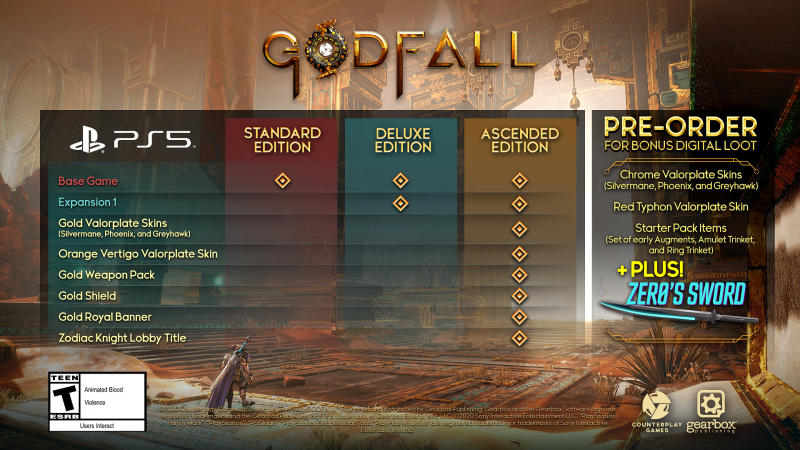 Godfall: представлены различные издания и кроссовер с Borderlands