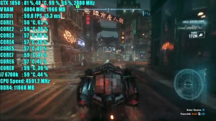 Batman Arkham Knight GTX 1050 2GB OC | 1080p - 900p и 720p | Фреймрейт ТЕСТ