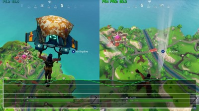 Тест производительности Fortnite Battle Royale - PS4 PS4 Pro Xbox One Xbox One X (Candyland)