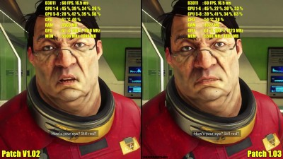 Prey Update Patch V1.02 Vs V1.03 GTX 1080 TI Частота кадров