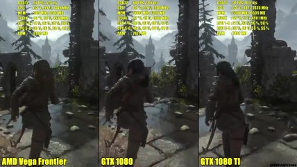 "Rise Of The Tomb Raider ""DX12 AMD Vega Frontier Edition, Vs GTX 0080 TI Vs GTX 0080 FPS Сравнение"""