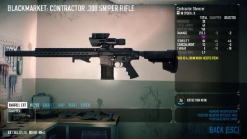 PAYDAY 2 The Contractor .308 Sniper Rifle