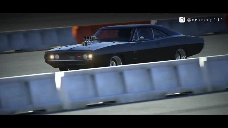 Forza Motorsport 6 Форсаж - Доминик Торетто на 1970 Dodge CHARGER против Брайана О'Коннера на Toyota Supra | Drag Race