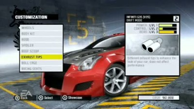 "NFS : Pro Street "" Customization Featurette"""