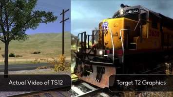 "Trainz Simulator: A New Era ""Сравнение графики с Trainz Simulator 12"""