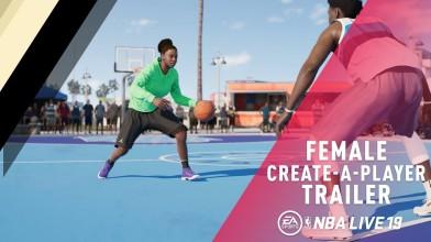 В NBA Live 19 можно играть за девушку-баскетболистку