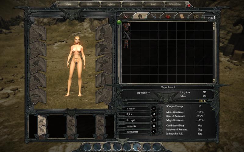 Меню игры Divinity II: Ego Draconis с nude-патчем