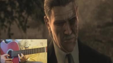 Как играть на гитаре Metal Gear Solid - Old Snake (Metal Gear Solid 4: Guns of the Patriots OST)